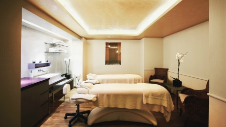 A treatment room at the luxurious Grande Bretagne Spa.