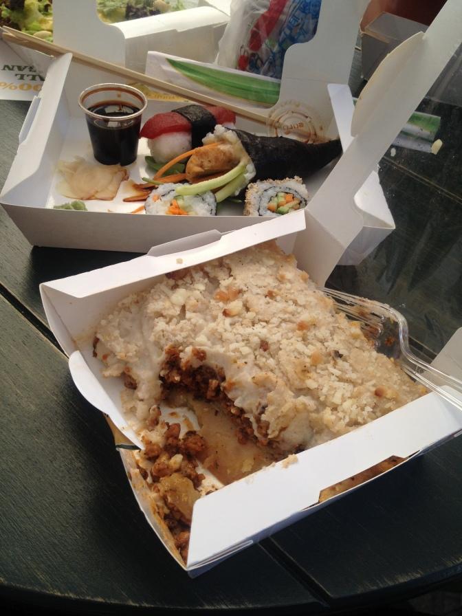 Vegan Nation Athens I'm Very Well Thank You Sushi Moussaka